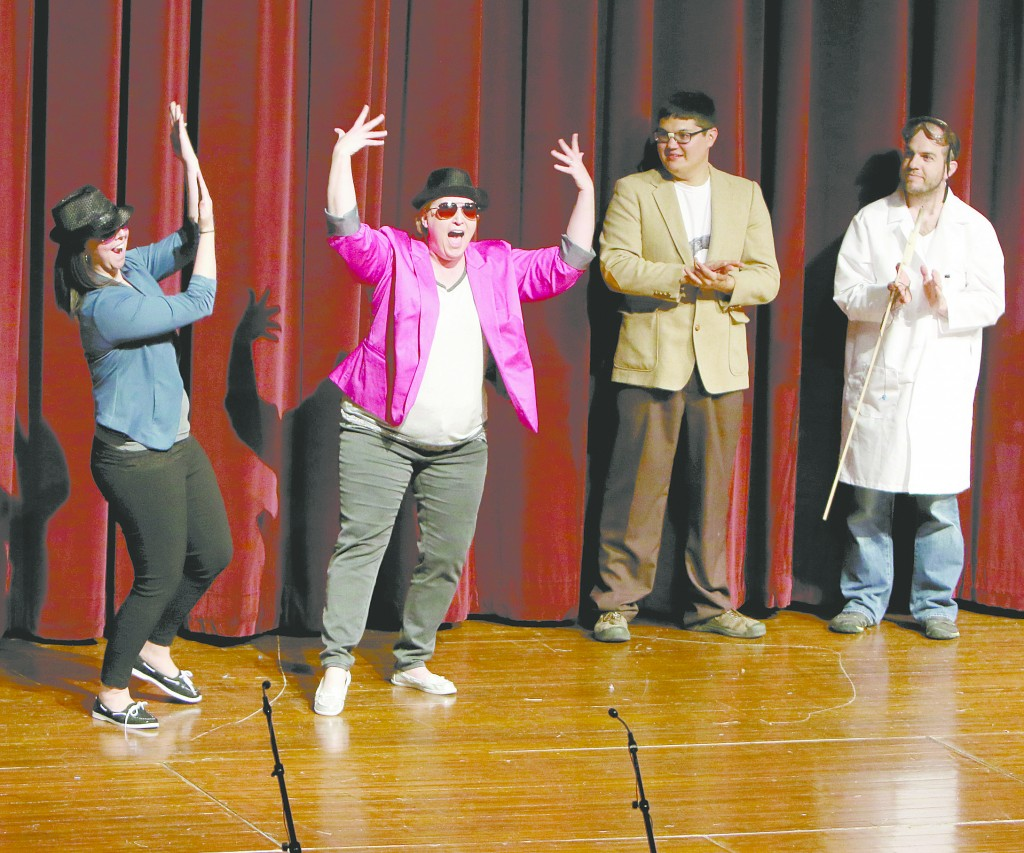 DC High School English teachers Ashlee Georges and Amy Schultz went all out for DC's 2015 Faculty Follies.