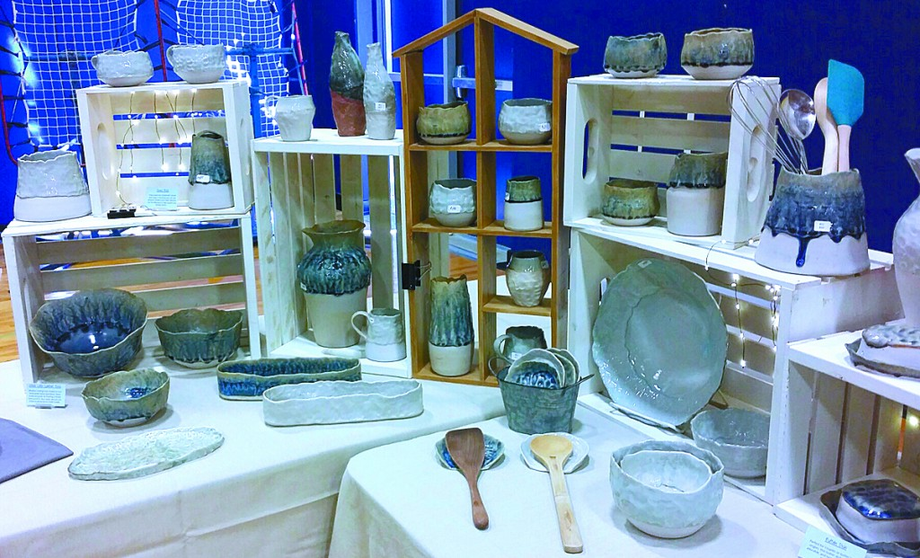 Katie Teesdale set up a booth showcasing her pottery for the Howard Lake Expo earlier this year.