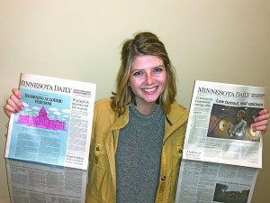 Kelly Busche of Dassel was recently named editor in chief of the University of Minnesota's campus newspaper.