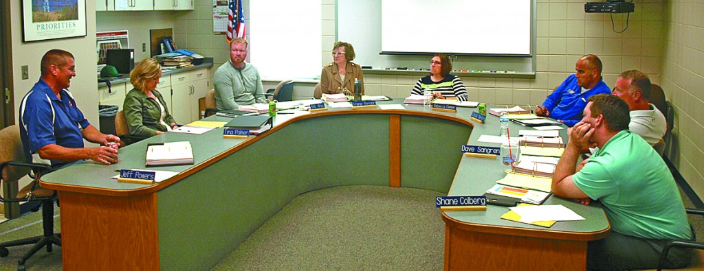 Dassel-Cokato School Board members had a deep discussion at their meeting Monday evening.  Superintendent Jeff Powers, business manager Tina Palmer, Bill Aho, Irene Bender, Rebecca Clemen, Chuck Nelson, Dave Sangren and Shane Colberg attempted to define the difference between district needs and wants.
