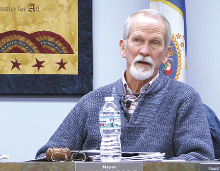 The City of Dassel's Clerk/Treasurer Terri Boese and Mayor Ron Hungerford (pictured) led the council and audience members through a lengthy agenda at the council's meeting last week.