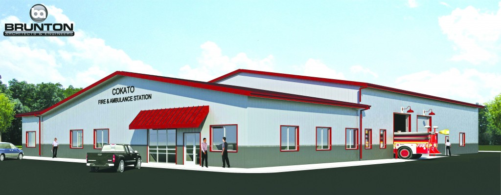 The fire station is expected to be completed Friday, Dec. 15.