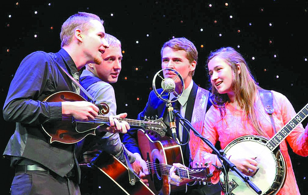Four of the Mahlstedt siblings – Jacob, 18; Caleb, 16; Isaiah, 20; and Hannah, 14 – participated in the 17th annual KSMU Youth in Bluegrass Band Contest in Branson, MO May 26.