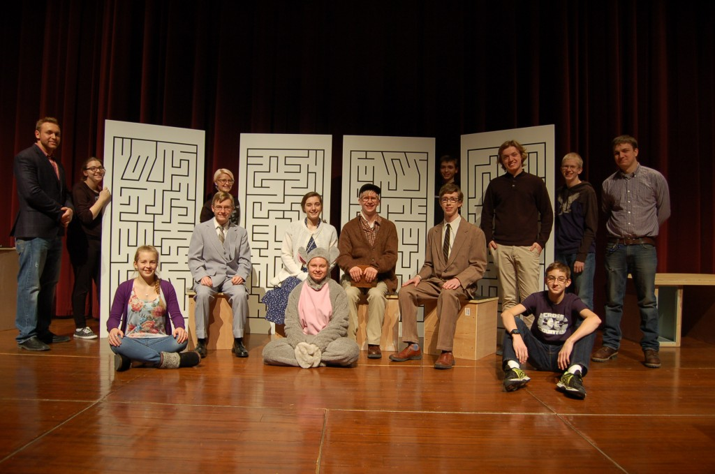 The cast of this year's one-act play, 'Flowers for Algernon' directed by James Frickstad, include (in no particular order): Isaac Olson, Natalie Dahlin, Ethan Langemo, Henry Von Ohlen, Miranda Pokornowski, William Frickstad, Sam Olson, Marissa Engquist, and Maddie Schut. The crew includes: Nathan Dahlseng, Jackson Lambrecht, Marit Thostenson, and Stephen Hansen.