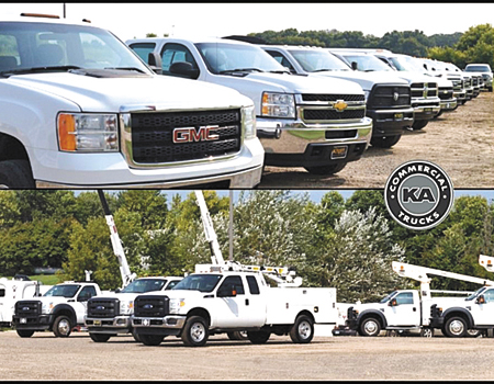 KA Commercial Trucks, located on the west side of Dassel, specializes in used commercial trucks, vans, and accessories.