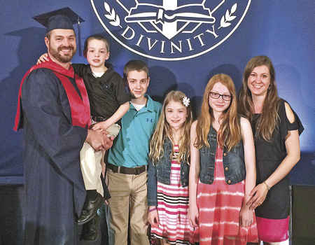Bjorn Bakke was delighted to have his family with him at his recent graduation from Liberty University in Virginia. Joining him at the celebration were his children, Kylan, Mason, Julia, Erica; and his wife Crystal.
