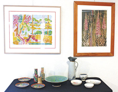 One aspect of art Kurtis Meyer hopes to get across with his collection is that it can be integrated into daily living, such as through a plate, vase, mug, etc.