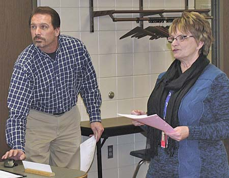 Dassel-Cokato elementary principals Brian Franklin and Debbie Morris highlighted their schools' programming at last Monday's school board meeting.