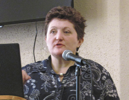 Ali Ussery of the North Wales, UK spoke at the Elim Mission Church ladies gathering April 8 to inform attendees on the reality of modern slavery and human trafficking.