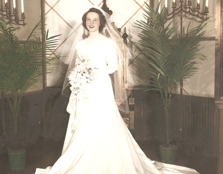 rene Strey received her wedding dress from the Dayton family's department store, after nannying for Mark Dayton and his younger brother