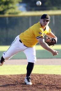 Ryan Grams had it all working on the mound Tuesday night as the Bruins took Game 1 against the Winsted Wildcats with a 3-1 victory.