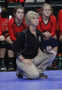 Mayer Lutheran coach Joelle Grimsley has her team one win away from repeating as state champions.