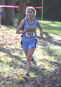 Gwen Helgeson got her redemption as she captured the Central MN Conference title this year with an impressive performance at the Central MN Conference meet Tuesday afternoon.