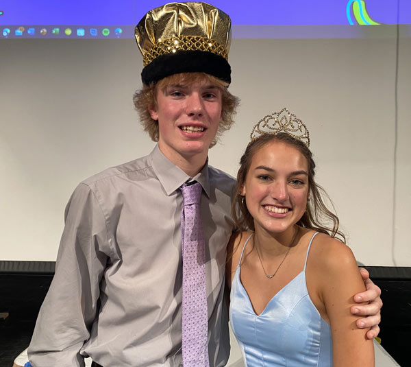 King Drew Burau and Queen Lydia Montgomery