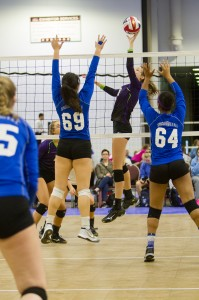 Mayer Lutheran sophomore Olivia Tjernagel is a force to be reckoned with at the net. With her impressive vertical and six foot frame, Tjernagel has caught the eye of multiple college coaches across the country.