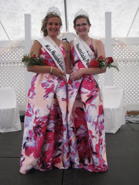 The new Miss Howard Lake for 2018 is Lanney Lobertmann (left), and the princess Ari Higgins.