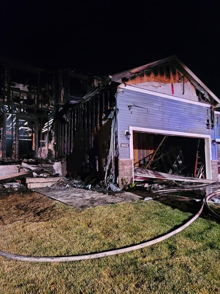 A fire destroyed this home at 6611 Crofoot Ave. SW in Waverly early Friday morning.