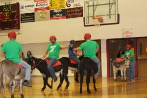 Donkey basketball in LP