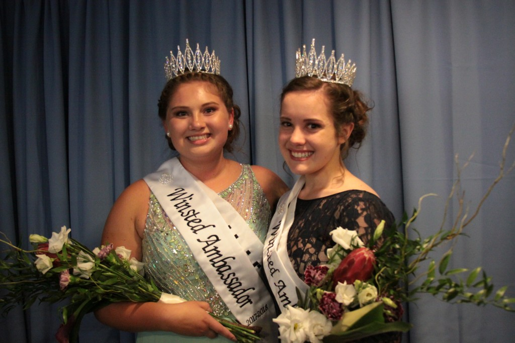 Winsted's newly crowned 2017-2018 ambassadors are Heidi Otto and Ellen Guggemos.