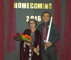 Valeria Lopez was crowned homecoming queen, and Ivan Lezama was crowned homecoming king at Lester Prairie High School's homecoming coronation Oct.  3.