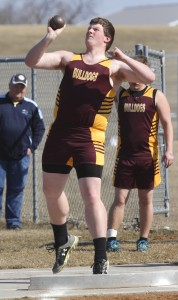 LP/HT's Matthew Fasching took fifth place in shot put with a throw of 32 feet, 8 inches for the Bulldogs.