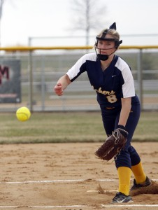 HLWW's Haley Wiegert has continued to carry the load for the Lakers in the circle this season.