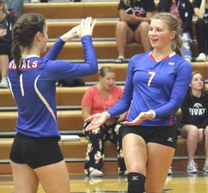 Senior Kylie Hoese and the Royals picked up an impressive 3-0 sweep over the Delano Tigers in their home opener Tuesday night,