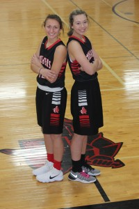 Mya Chmielewski and Maddy Hucky are Mayer Lutheran's all-time leading scorers in school history.