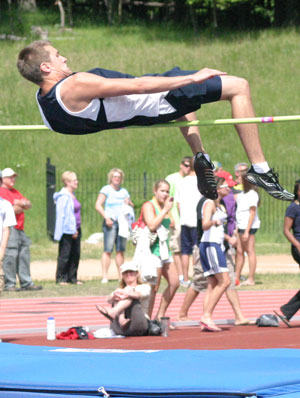 Junior Quin Leaf Kept His 2010 Track And Field Season Alive For Another Week Wednesday By Winning The Section 5ale In The High Jump