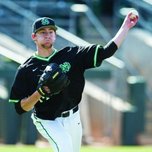 Former Delano High School ace Zach Muckenhirn pitched three seasons at the University of North Dakota, but is now looking for a new school to play at during his senior season. UND is dropping its baseball program as part of budget cuts, leaving the players and coaches scrambling to find new homes. Muckenhirn is having no problem finding interested schools, as more than 100 potential suitors have reached out to him this spring. Muckenhirn did not disclose specifically which schools are at the top of his list, but he did say their is a good chance he will pitch in the Southeastern Conference (SEC) next season. Photos courtesy of the University of North Dakota