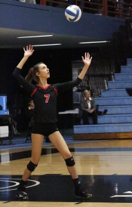 With her team struggling set one, senior Lauren Wandersee rallied her team with her serving as Mayer Lutheran clinched their second-straight Section 2A title with a 3-0 sweep of W-E-M Saturday night.