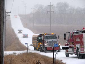 School bus accident south of Howard Lake this morning | Herald