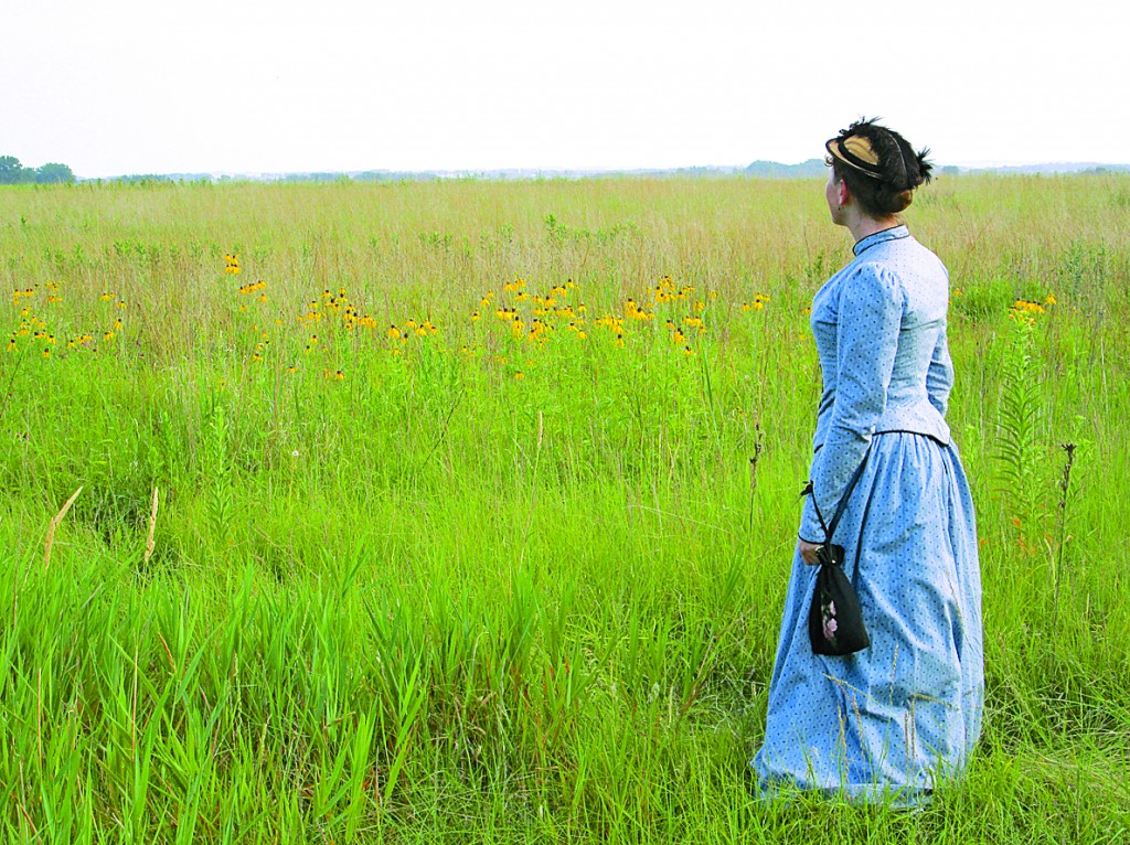 Melanie Stringer has spent more than two decades researching the life of Laura Ingalls Wilder. During her presentations, she wears the type of clothing Laura would have worn as a young woman.