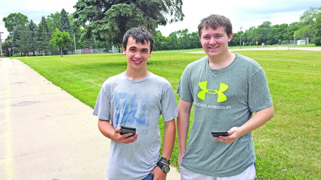 Donavon Decker and Dylan Borrell  were spotted playing Pokémon Go in Howard Lake a week after the game was released. They said they are careful to stay safe while playing, always using sidewalks and staying on public property.
