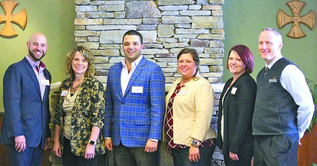 Monarch Healthcare Management executives visited St. Mary's Care Center in Winsted March 12.